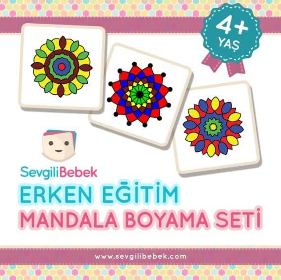 4 Yaş Erken Eğitim Mandala Boyama Seti Sevgili Bebek